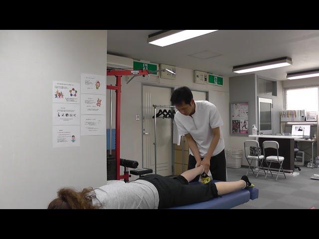 【施術動画】腓腹筋を使って筋膜リリース