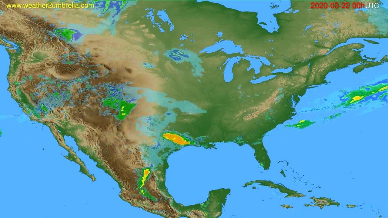 Radar forecast USA & Canada // modelrun: 12h UTC 2020-03-21
