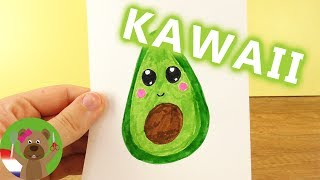 AVOCADO DIY KAWAII tekenen | Schattige vrucht zelf maken - zachte schil harde pit