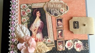 """This mini album was made with the beautiful Portrait of a Lady paper collection from Graphic45.  It measures 8.5"""" x 11"""" with 10 pages inside. It is available in my Etsy store at: https://www.etsy.com/listing/513239948/portrait-of-a-lady-mini-album?ref=listings_manager_gridA tutorial for this album can be found here: https://www.etsy.com/shop/SoMuchScrap?ref=search_shop_redirect"""