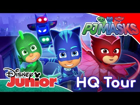 PJ Masks | Welcome To PJ Masks HQ! ✨ | Disney Junior UK