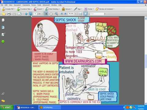 SESSIONS for NURSES 10 – CARDIOGENIC AND SEPTIC SHOCK