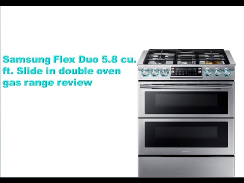 slidein double oven gas range with convection oven in black stainless the home depot - Double Oven Gas Range