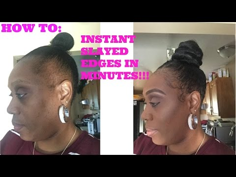 How To: Make Instant SLAYED Edges in Minutes (видео)