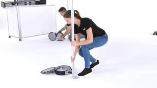 PRO-TENT | MODUL 4000 - Montage Fußplatten