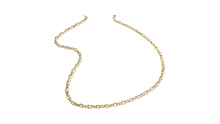 """Sevilla Silver Updated Figaro Link 20"""" Chain Necklace"""