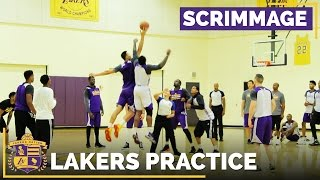 Lakers Training Camp 5-On-5 Scrimmage Footage by Lakers Nation