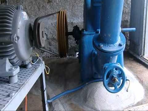 Microhidrica com turbina pelton e gerador assincrono ligada á rede eletrica