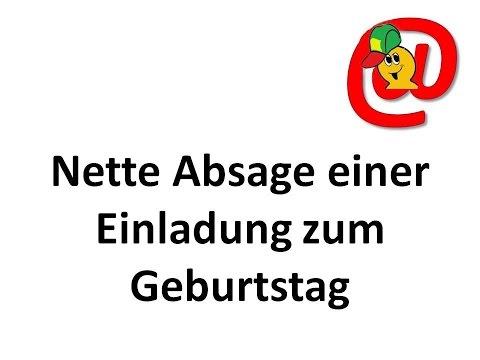 Nette Absage auf eine Einladung zum Geburtstag – Texte für E-Mails und Briefe – German Letters