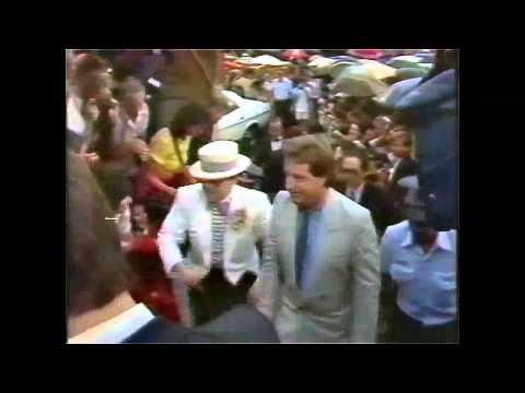 Elton John - Wedding news clip from February of 1984