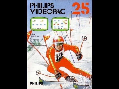 Nr. 25: Ski | Philips Spielekonsolen | G7000 / G7400 / Videopac / Videopac+