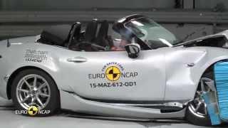 """Kā notiek """"Euro NCAP"""" avāriju testi (piemērs ar jauno """"Mazda MX-5"""" kabrioletu)"""