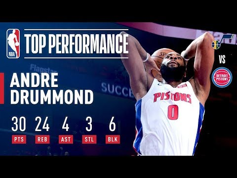 Video: Andre Drummond SHOWS OUT vs The Utah Jazz