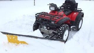 10. Honda Foreman 450 vs. 16 Inch Snow Storm, ATV Snow Plow