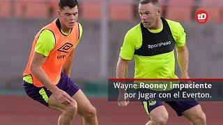 El delantero internacional inglés Wayne Rooney se encuentra ansioso por debutar con su nuevo club en la Europa League, el Everton sale a escena este jueves. Rooney piense en grande.