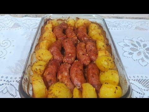 Linguiça c/ batatas ao forno