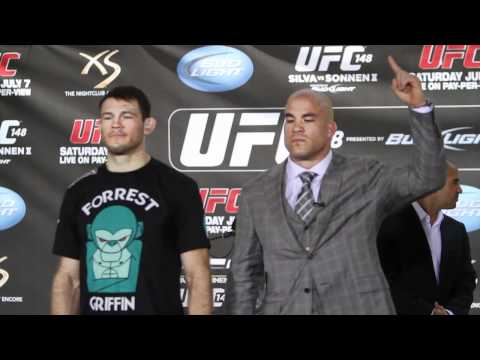 Tito Ortiz and Forrest Griffin UFC 148 Pre-Fight Faceoff