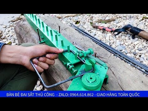 Bàn bẻ đai sắt nhanh không thua gì máy bẻ đai sắt xây dựng