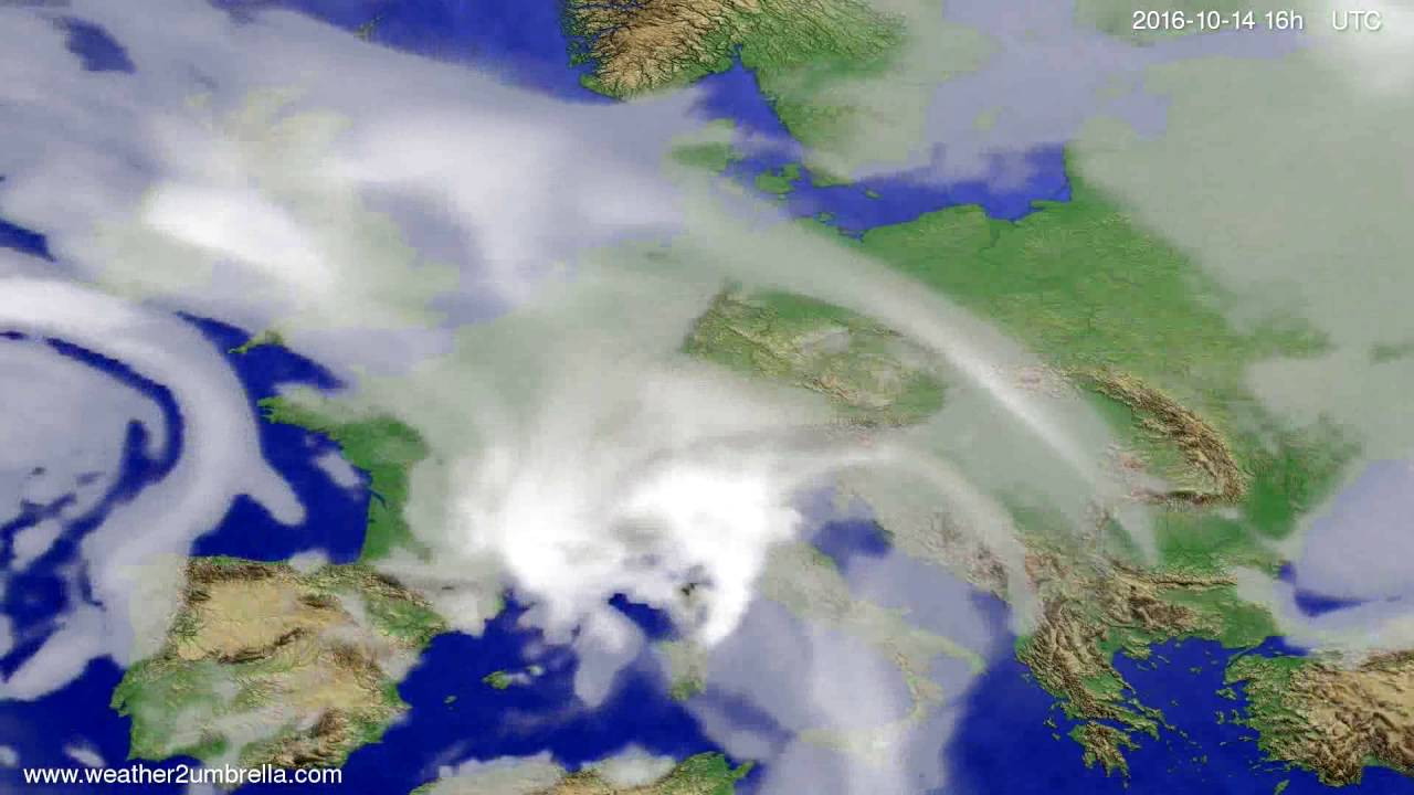 Cloud forecast Europe 2016-10-11
