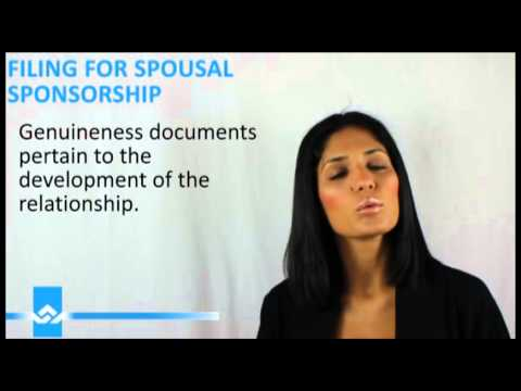 Filing for a Spousal Sponsorship Application Video