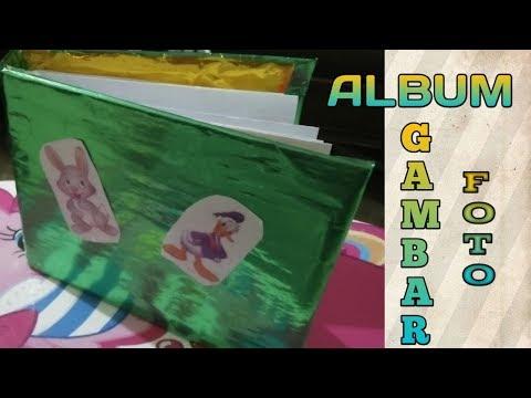 CARA BUAT ALBUM FOTO DARI KARDUS | how to make a cardboard photo album видео
