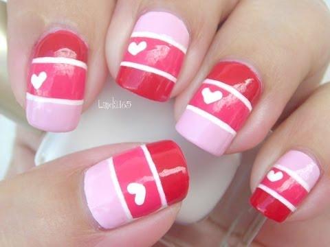 nail art semplice per san valentino!
