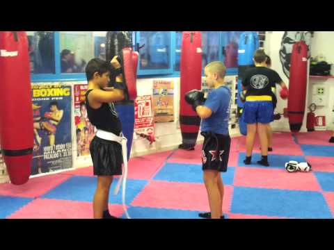 Allenamento dei kickboxer junior team collovigh