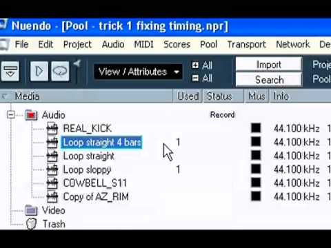 10 tricks in Cubase and Nuendo part 1