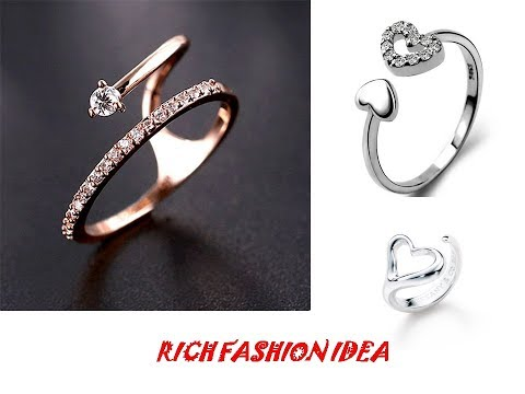 Latest Stylish Ring CollectIon For Girls/Women|| Beautiful Silver Rings Collection|| Cool Designs