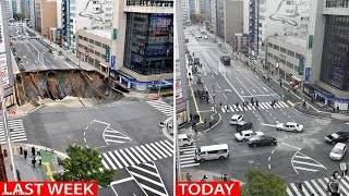 Takashima Japan  City new picture : Sinkhole? What sinkhole? Japan's mega-sinkhole is repaired in just a WEEK
