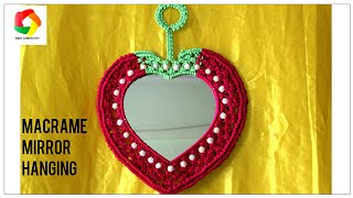 Easy tutorial of Macrame Mirror Wall Hanging | Mirror Wall Hanging DIY