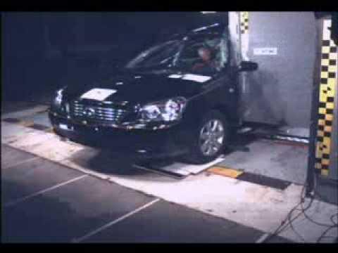 Kia Magentis Краш-тест Kia Magentis от EuroNCAP. Боковой удар о столб