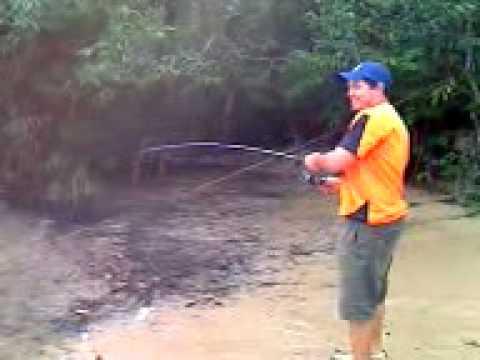 Pescaria no Rio Culuene logo acima da Barra do Rio Maria.