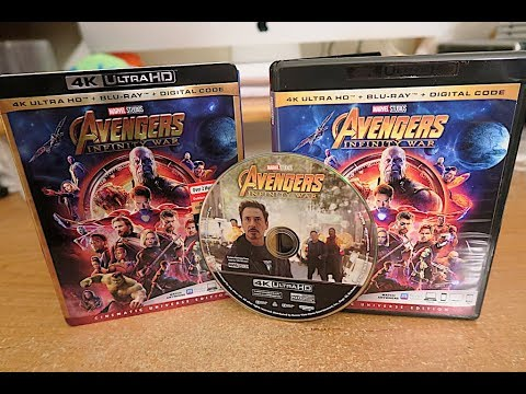Avengers Infinity War 4k Ultra Hd / Blu Ray Unboxing And Review !!!