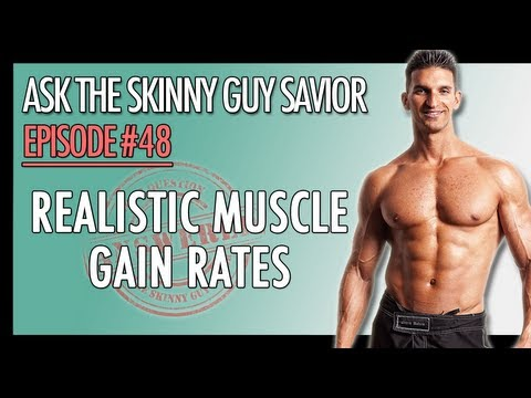 VinceDelMonte - Muscle gain rate? Curious to know what a realistic rate of gaining muscle is for skinny guys? In this video I reveal the exact amount of muscle gain that is ...