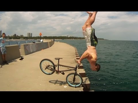 Tim Knoll  s Parkour BMX Bike Stunts