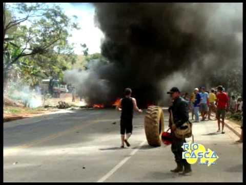 Manifestação na BR 262 em Rio Casca