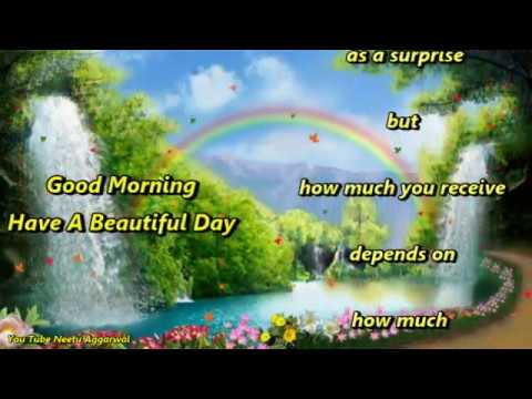 Video Good Morning Greetings/Quotes/Sms/Wishes/Saying/E Card