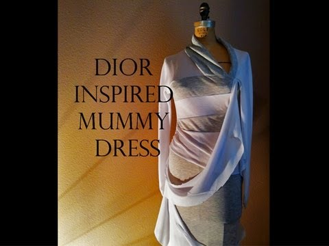 Dior Inspired Mummy Halloween Costume | Time Lapse Tutorial #4