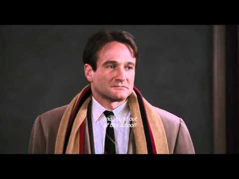 Oh - One of the best scene that i have seen in a dramatic movie!!!! Robin Williams is fantastic in this film and the purpose and meaning behind it is a foundation...