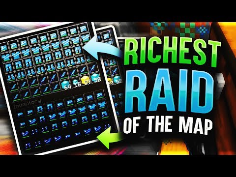 THE RICHEST INVIS RAID OF THE MAP **SO MUCH LOOT** | Minecraft HCF