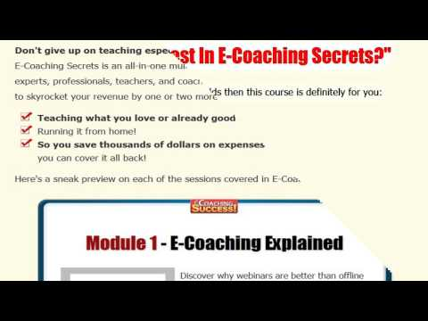WSO eCoaching success Review – Teach What you love and sell high ticket!