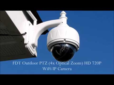 FDT Outdoor PTZ 4x Optical Zoom HD 720P WiFi IP Camera