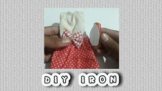 DIY iron miniature for Dolls ! | Must Try !