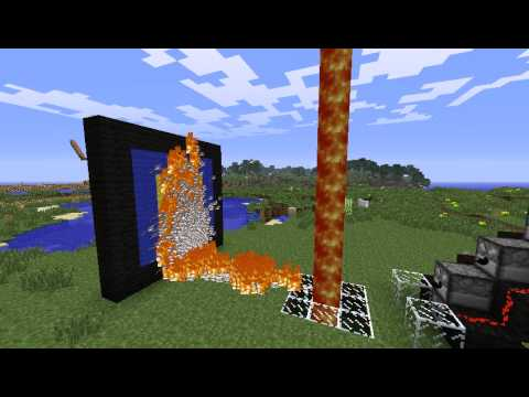 Minecraft full automatic flamethrower (Without mod!)