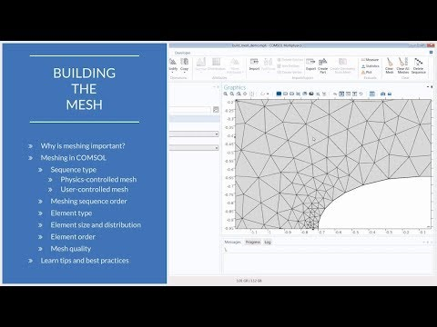 How to Build a Mesh in COMSOL Multiphysics®