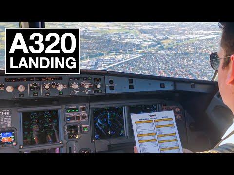 A320 Cockpit Landing