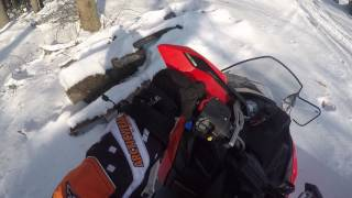7. Riding in fresh powder- Polaris 550 indy