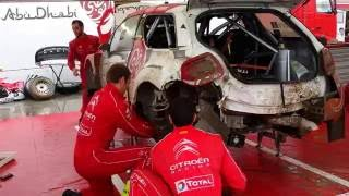 Video WRC 73 Rally Poland 2016 - 30 min Service of Stephane Lefebvre damaged Citroen WRC MP3, 3GP, MP4, WEBM, AVI, FLV November 2018