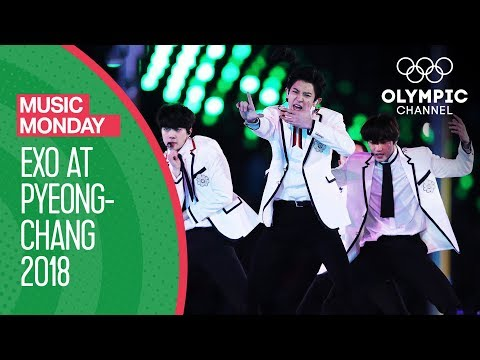 EXO at the Winter Olympics -  FULL Performance - PyeongChang 2018 Closing Ceremony | Music Monday (видео)